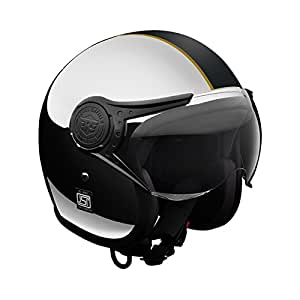 Royal Enfield Chrome Black Open Face with Visor Helmet Size (XL)62 CM (RRGHEI000018)