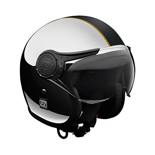 Royal Enfield Signature HESS18005 Open Face Helmet (Chrome Black, L)