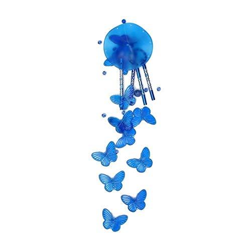 WDDqzf ornament Skulptur Figur Mode Schmetterling Windspiel Glocke Lucky Garden Hängende Dekoration Ornament Geschenk - Multicolor, Blau -