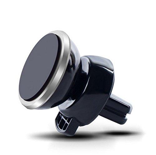 Auto-Halterung, 360 ° Rotation Universal-Magie Air Vent Halterung in Auto, Auto-Telefon-Halter für iPhone Samsung GPS und andere Android-Handys (Silber)