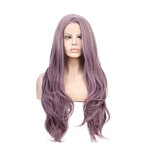 Zcx Perruque Longue Perruque Synthétique Ondulée Synthétique pour Femmes (Couleur : Purple)