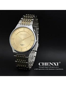 Hot Ultra-Thin-Modelle hei?en schlank schlank paar Uhren Mode Uhr-Lady Gold-