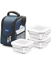 Treo by Milton Health First 3 Pieces Square Container Glass Tiffin