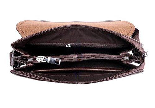 Männer Schultergurte Einfache Strick Großraum-Computer-Tasche Mode Multifunktions-Aktenkoffer Black1