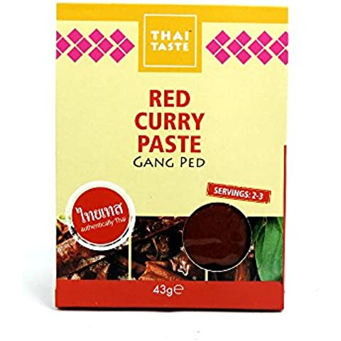 Thai Taste - Red Curry Paste - Gang Ped - 43g