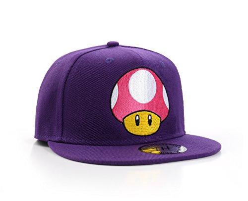 True Heads Super Mario Toad Mushroom Purple Snapback Baseball Cap