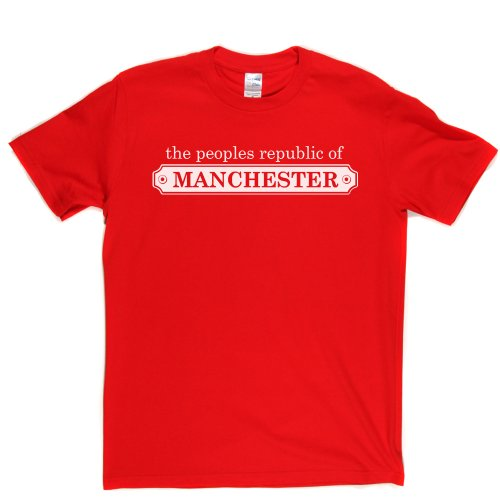 Republic of Manchester England Man Utd Local Tee T-shirt Rot