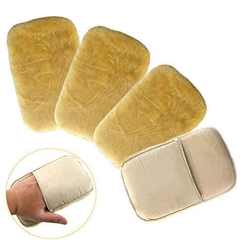 EQLEF® Wildlederbürste Schuhe Wildlederbürste Schuhbürste weicheS Darmzotte Reinigen Polieren Schuhputzhandschuh Schuhpflege Nubukbürste (2 Paar)