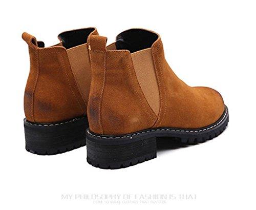stivali donna scarpe ascensore Retro Ms con Camel piane Primavera scarpe massima da 1wnx0qAI0