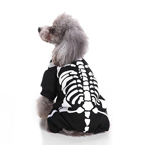 monicanine Fashion Puppy Pet Pullover Sweater Rahmengestelle Print Hund Bekleidung Rollenspiele (Kostüm Cog)