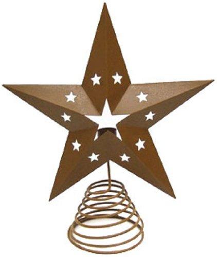 Craft de mostaza lata estrella para árbol de Navidad con soporte de...