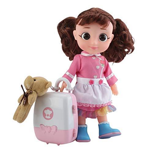 Qomomont Kinder Simulated Kochen Küche Puppe Kit Mit Haus Familie Menber Cosplay Vortäuschen Lernspielzeug Mädchen (Kochen-kits Für Mädchen)