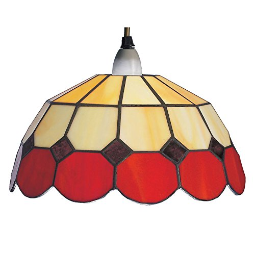 large-red-beige-bistro-tiffany-ceiling-light-shade-pendant-br4