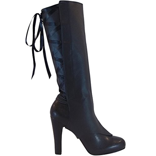 Laceups Unique Women's Fashion Shoes Transforming Into Boots Warmer Leg up Style (One Size, Black (Up Womens Boots Black Lace)