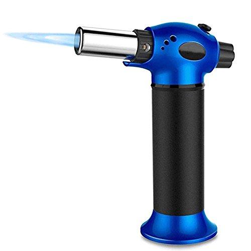 QINAIDI Flame Gun Torch - Butan Feuerzeug, Brennende Fackel, Strom Ignite Outdoor Gas Fackel, Camping BBQ Löten Schweißwerkzeug,Blue -
