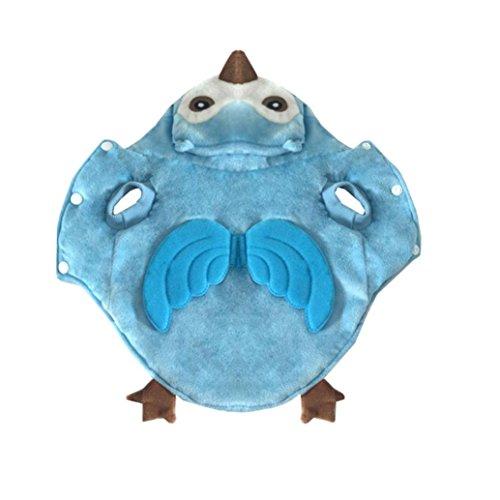 dlichen Hund Haustier Cosplay Dicke Warme Kostüm Kleidung Komfortable (M, Blau) (Hund, Eule Kostüm)