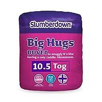 Slumberdown Big Hugs Smart Stitch Threadless Seam 10.5 Tog Duvet, Microfibre, King Size