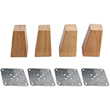4X Möbelfuß Schrankfuß  Fuß Kunststoff Holz Optik Holzmaserung Braun120mm 12cm