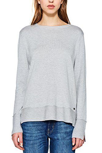 edc by ESPRIT Damen Pullover 127CC1I019, Grau (Light Grey 040), X-Small Preisvergleich