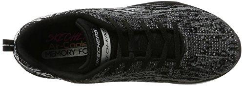 Skechers Synergy 2.0-High Spirits, Sneaker Donna Nero (Black/grey)