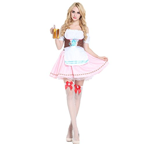 Delightful Lace Up Front Bier Mädchen Oktoberfest Kostüm mit Schürze