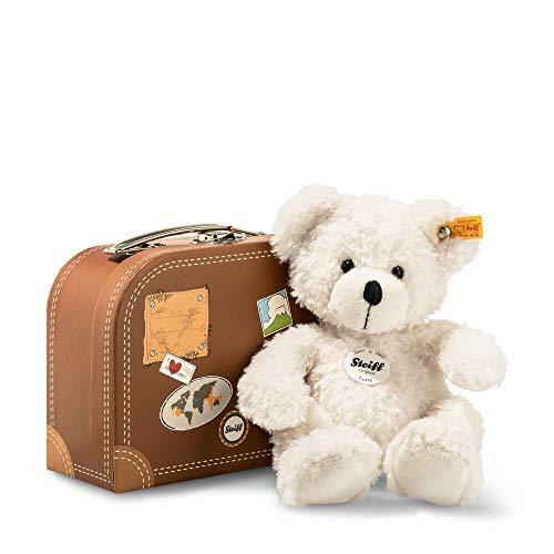 Steiff 111464 Lotte- Orsacchiotto, ca. 28 cm, con valigia, colore: Bianco