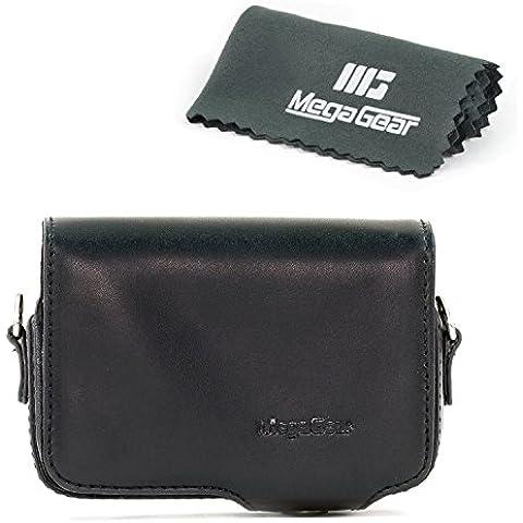 MegaGear Funda de piel con cinturón para Sony DSC-RX100M III, RX100 V, Sony DSC-RX100M II, Sony DSC-RX100M III, RX100 IV -
