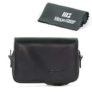 MegaGear Etui souple en cuir pour, Housse pour Sony DSC-RX100M II, Sony DSC-RX100M III, RX100 IV Cyber-shot (Noir)