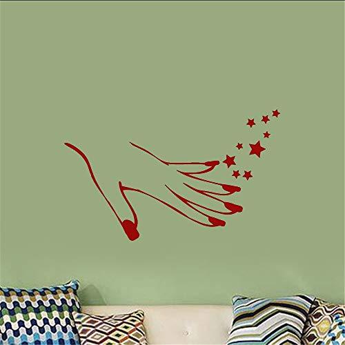 r Girl Hand Manicure Art Poster Beauty Salon Decor Modern Fashion Ornament Mural Decals for nails salon ()
