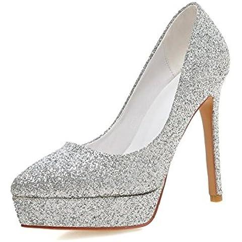 zapatos de tacón ultra/Asakuchi con lentejuelas zapatos de la boda/ el espectáculo señaló zapatos