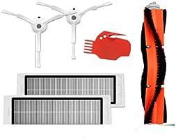TOOGOO 6 pieces d'aspirateur 2 brosses laterales + 2 filtres HEPA + 1 brosse principale + 1 outil pour Mi Robot de Xiaomi