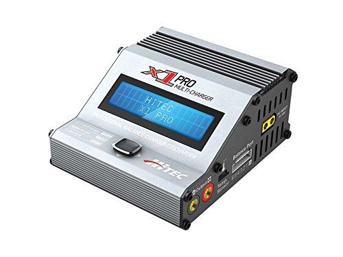 Hitec X1 Pro Noir, Argent - Chargeurs de Batterie (11-18, 16 A, 92 mm, 111 mm, 50 mm, 405 g)