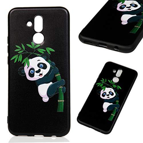 Edauto Huawei Mate 20 Lite Hülle Silikon Case Handyhülle Schutzhülle TPU Slim Fit Tasche Silikonhülle Handyhülle Handytasche Backcover Handycover Großer Panda
