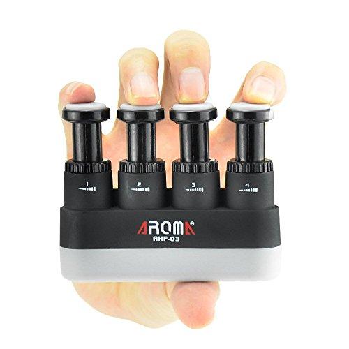 Allenatore per dita, 4 tensioni, impugnatura ergonomica regolabile, in silicone, per chitarra, pianoforte, trattamento dell'artrite, arrampicata su roccia