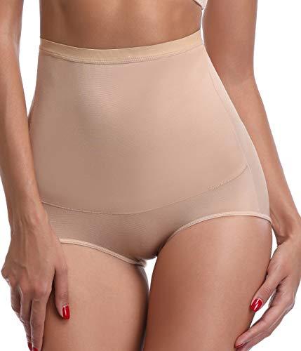 SLIMBELLE Damen Hohe Taille Shapewear Panties Unterwsche Butt Lifter Slip Taillenformer Nahtlos Unterhose Bauchkontrolle