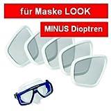 Aqualung optisches Glas für Maske Look 2 -4.0 bis -6.5 -
