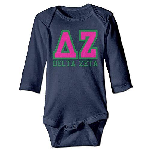 Ejjheadband Delta Zeta Baby Long Sleeve Bodysuit 6M -