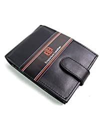 MENS NEW HIGH QUALITY REAL BLACK LEATHER WALLET ID CREDIT CARD HOLDER COIN POUCH
