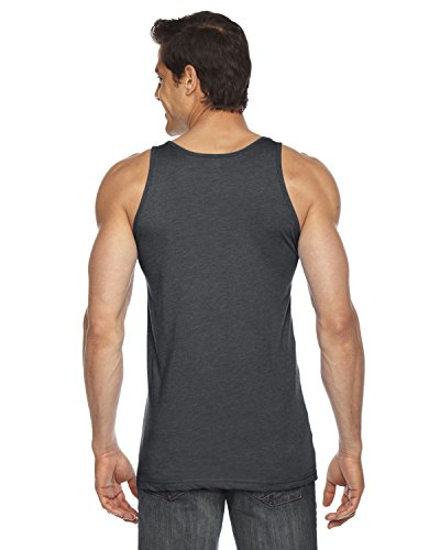 American Apparel ltext poly-cotton Tank Asphalt