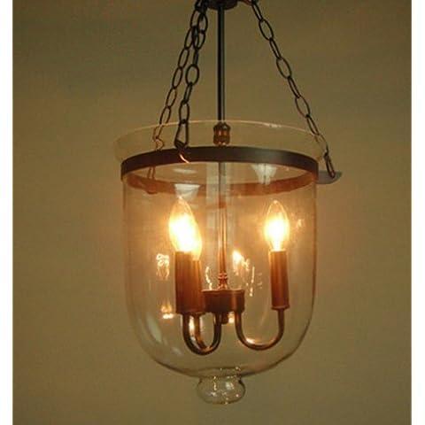 YFF&ILU Villaggio idilliaco minimalista retrò vento antichi lampadari di ferro del Mediterraneo arte lampadari di vetro corridoio scale benna warehousedining camera soggiorno , Black ,retrò antiquecm antiqueretro