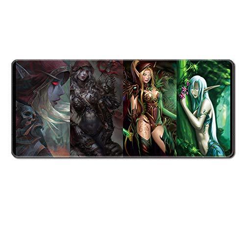 ZYAM World of Warcraft Professionelle Gaming-Mauspad, Rutschfeste Gummi-Computer-Mauspad, große Tischset, Wow-Peripheriegeräte (900x400x3mm)