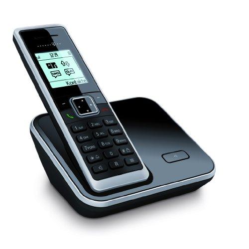 Sinus 206 Schnurlostelefon mit Grafikdisplay (Farbe: schwarz, 150 Telefonbucheinträge, monochromes Grafikdisplay)