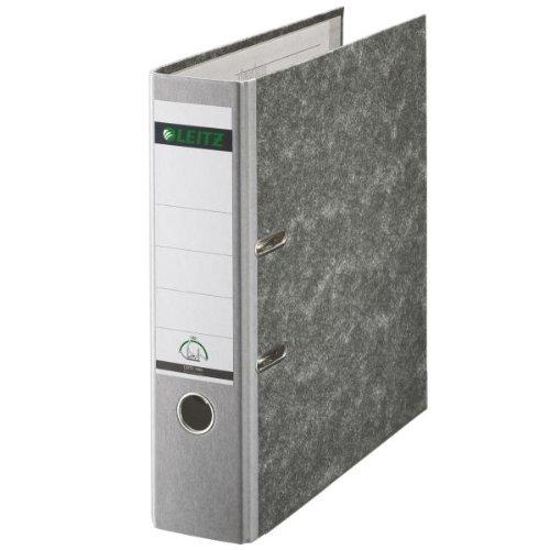 Leitz 10805085 Qualitäts-Ordner (Wolkenmarmor-Papier, A4, 8 cm Rückenbreite) grau