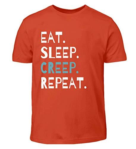 Eat Sleep Creep Repeat - An Halloween Das Wahre Gruselige schreckliche Ich Zeigen - Kinder T-Shirt