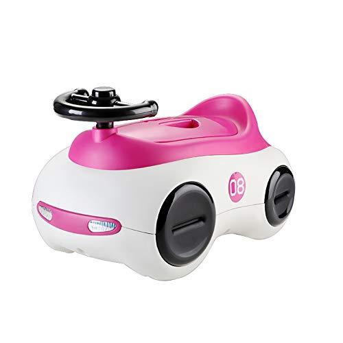 Children's toilet Enfants Toilette- Toilettes pour Enfants Extra Large Girl Rose Rouge PP Enfant Siège Bébé 1-3-6 Ans Mâle Pot Urinoir