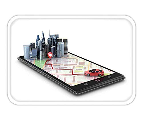 HLKPE Doormat Mobile GPS Navigation travel and Tourism Concept View a map on The Mobile Phone on car and Search 15.7X23.6 Inches/40X60cm