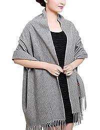 00fc63c35480 Novawo Extra Large Echarpe cachemire et laine mélangée Châle Etole pour ...