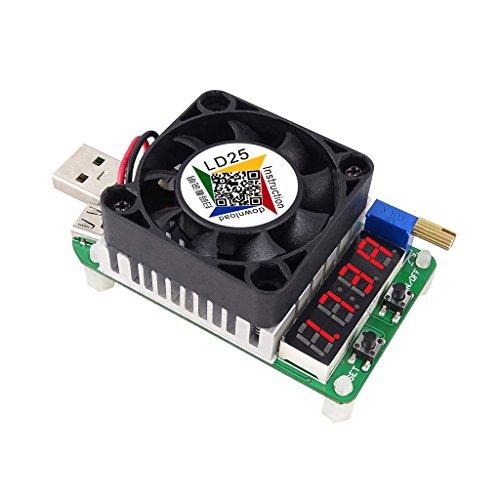 Qiman RD LD25 Elektronischer Lastwiderstand USB Schnittstelle Entladung Batterie Test 25W Tester
