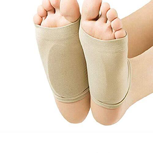 Fußgewölbeunterstützung Fersensocken Fußpflege Einlegesohlen Fußpolster mit Gelkissen für Damen und Herren - 1 Paar -