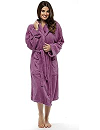 a595647930 Ladies Robe Luxury Terry Towelling Cotton Dressing Gown Bathrobe Highly  Absorbent Women Hooded and Shawl Towel